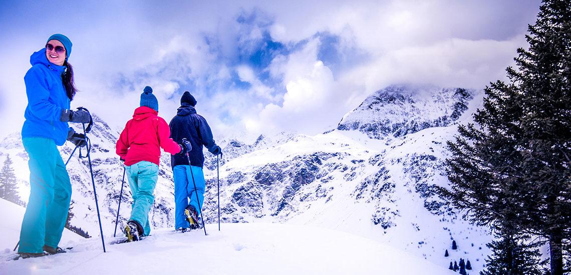 Schneeschuhwandern im Winterurlaub in Gastein, Salzburg