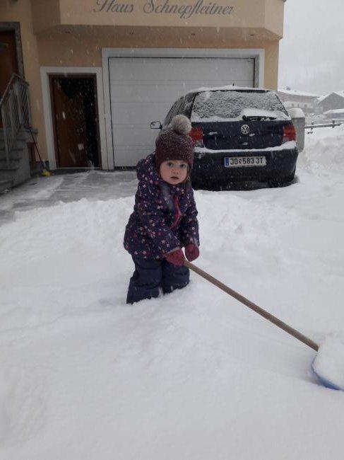 Schneeschaufeln ist einfach spitze